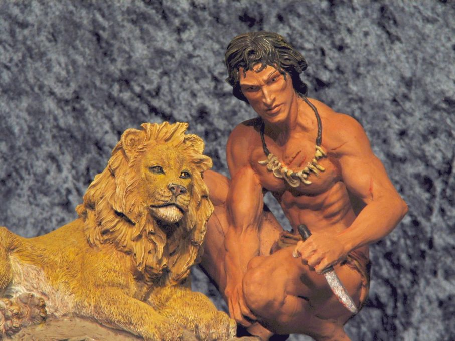 TARZAN AND THE GOLDEN LION BY EDGAR RICE BURROUGHS 50's